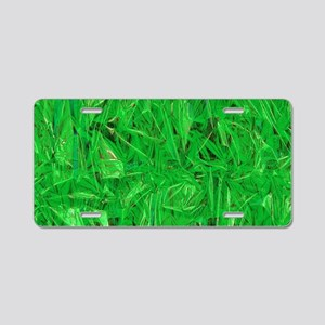 Green Grass Aluminum License Plate