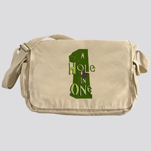 Hole in One green Messenger Bag