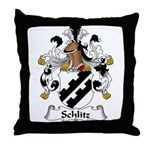 Schlitz Family Crest Throw Pillow