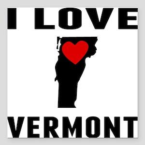 "I Love Vermont Square Car Magnet 3"" x 3"""