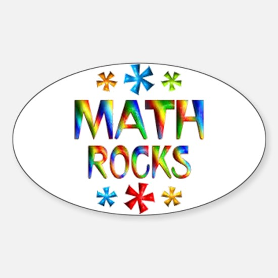 Math Rocks! Sticker (Oval 10 pk)