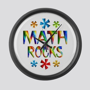 Math Rocks! Large Wall Clock
