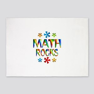 Math Rocks! 5'x7'Area Rug