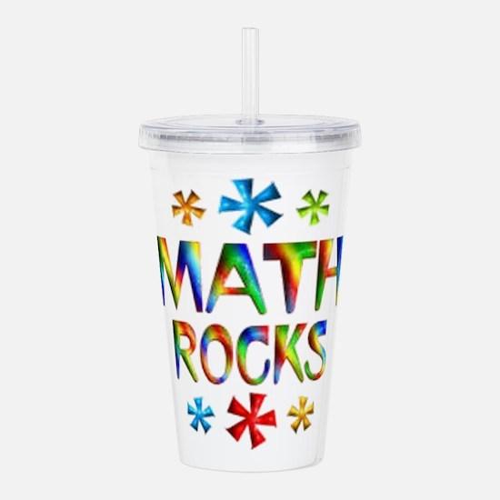 Math Rocks! Acrylic Double-wall Tumbler