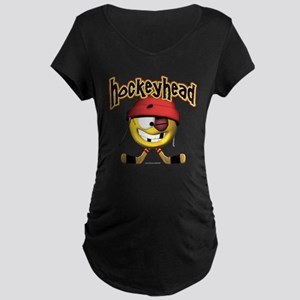 HockeyHead... Maternity Dark T-Shirt