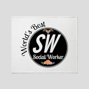 World's Best Social Worker Throw Blanket