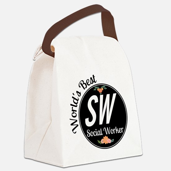 World's Best Social Worker Canvas Lunch Bag