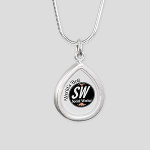 Nona Loves Me - Elephant Silver Teardrop Necklace