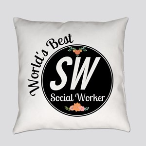 World's Best Social Worker Everyday Pillow