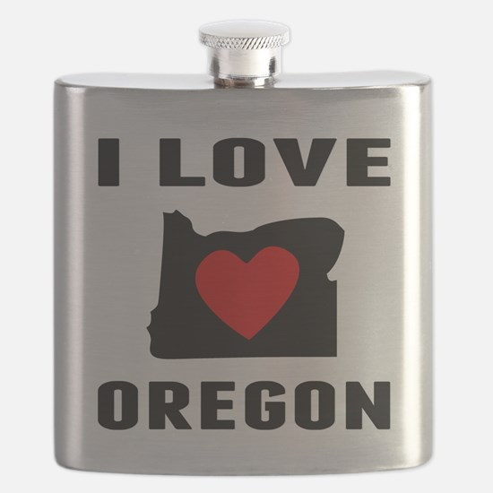 I Love Oregon Flask
