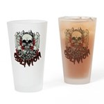 Skulls Cry Out The Oblivion Drinking Glass