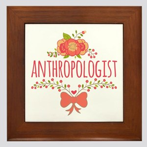 Cute Floral Gifts For Anthropologist Framed Tile