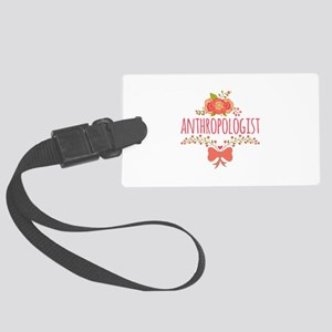 Cute Floral Gifts For Anthropolo Large Luggage Tag