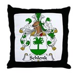 Schlenk Family Crest Throw Pillow