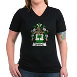 Schlenk Family Crest Women's V-Neck Dark T-Shirt
