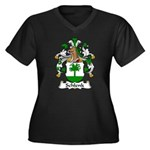 Schlenk Family Crest Women's Plus Size V-Neck Dark