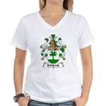 Schlenk Family Crest Women's V-Neck T-Shirt