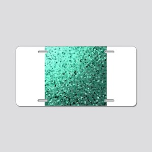 modern digital abstractes p Aluminum License Plate