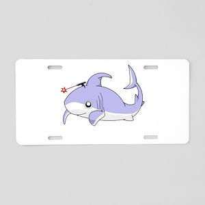 Frickin' Shark Aluminum License Plate