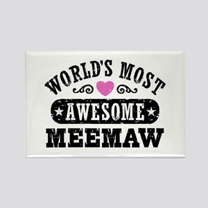 World's Most Awesome MeeMaw Rectangle Magnet