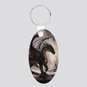Dragon In Cave Keychains