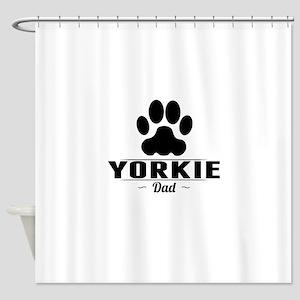 Yorkie Dad Shower Curtain