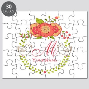 Floral Wreath Monogram Puzzle