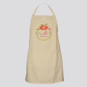 Floral Wreath Monogram Apron