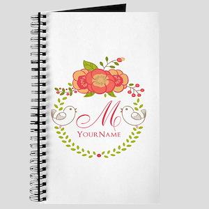 Floral Wreath Monogram Journal