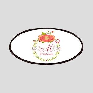Floral Wreath Monogram Patch