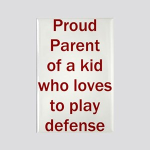 """Proud of kid who loves """"D"""" Rectangle Magnet"""