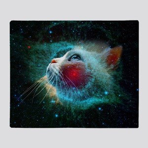 space cat Throw Blanket