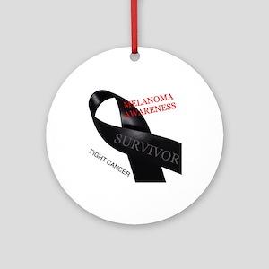 Melanoma Awareness Ornament (Round)