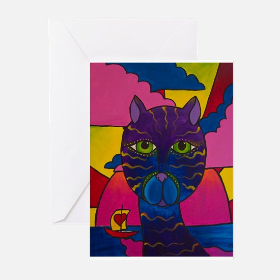 Hip Cat Greeting Cards (Pk of 10)