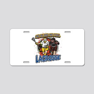 No Blood, No Foul Lacrosse Aluminum License Plate
