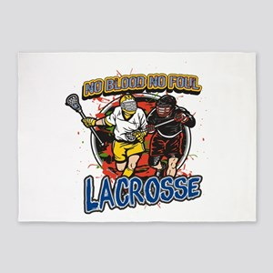 No Blood, No Foul Lacrosse 5'x7'Area Rug