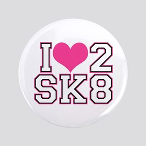Love to Skate (Pink & Black) Button