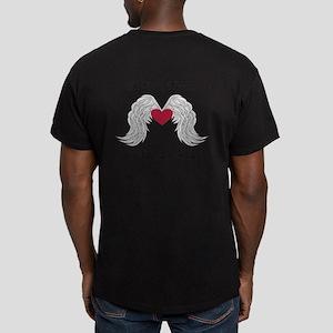 Memorial Heart And Angel Wings T-Shirt