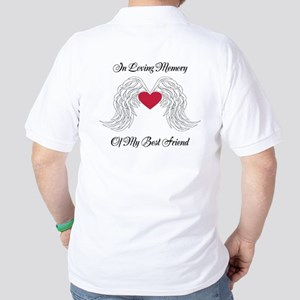 Memorial Heart And Angel Wings Golf Shirt