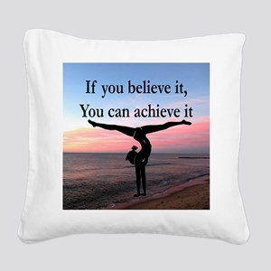 GYMNAST INSPIRATION Square Canvas Pillow
