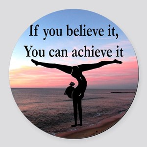 GYMNAST INSPIRATION Round Car Magnet