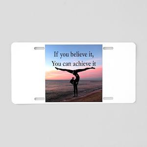 GYMNAST INSPIRATION Aluminum License Plate
