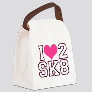 Love to Skate (Pink/Blk) Canvas Lunch Bag