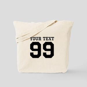 Custom Cute Sports Jersey Number Tote Bag
