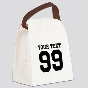 Custom Sports Jersey Number Canvas Lunch Bag
