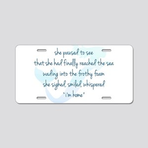 Mermaid Watercolor Aluminum License Plate