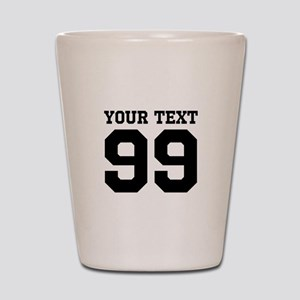 Custom Sports Jersey Number Shot Glass