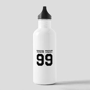 Custom Sports Jersey Number Water Bottle