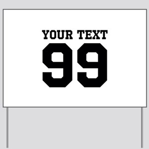 Custom Sports Jersey Number Yard Sign