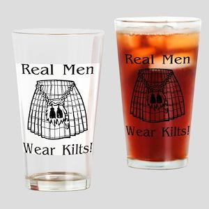 Real Men Wear Kilts Drinking Glass